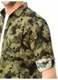 LC Waikiki Desenli Uzun Kollu Gömlek Haki